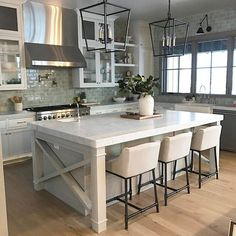 Visited this beautiful kitchen today and we are in love...can't wait to show you the rest of the house! #scandinavianmountainhome