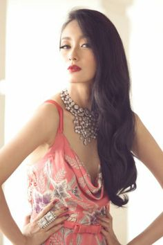 Iwan Tirta, wear a statement necklace with your simple batik dress for and edgy style look