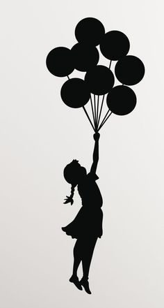 Mothers Day Drawings Discover Banksy Girl Balloons Vinyl Wall Decal/Sticker - Decor for laptop car wall window mirror etc. Art Drawings Simple, Banksy, Graffiti, Sillouette Art, Banksy Art, Art Drawings, Drawings, Drawing Sketches, Art