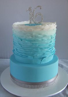 Sweet 16 Winter Wonderland Birthday Cake - Cake by Cake A Chance On Belinda