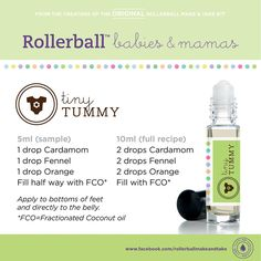 Tiny Tummy rollerball - I use only doTERRA's high-quality essential oils. To order, message me or shop here: https://www.mydoterra.com/ShoppingCart/index.cfm