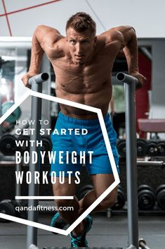 Bodyweight workouts are fantastic! They don't require a lot of room, can be done anywhere, and have little cost. Check out our bodyweight workouts to get you started - QandA Fitness - #fitness #bodyweight #workouts