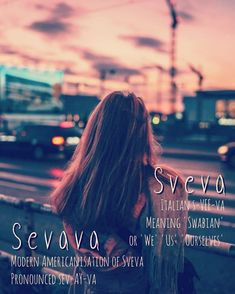 Sveva (s-VEE-va) and Sevava (sev-AY-va), elegant girls names that denote someone from Swabia, a Swabian person. The root of the name Swabia, itself comes from the tribal name Suebi, which means 'we'. Elegant Girl Names, Gorgeous Girl Names, Feminine Names, English Baby Names, English Words, Deep Space Nine Characters, Danish Men, Cities In North Carolina, Cute Nicknames
