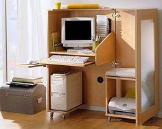 Bureau extensible alinea petits espaces pinterest for Meuble bureau extensible