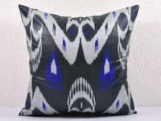 Ikat Pillow, Moon Dance – 19″ Ikat Pillow Cover – P_A111-1AA3, Ikat throw pillows, Designer pillows, Decorative pillows, Accent pillows