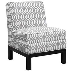 Accent+Seating+Armless+Accent+Chair+with+Tufted+Back+Cushion