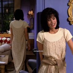 Related image The Effective Pictures We Offer You About monica geller outfits purple A quality pictu Rachel Green Outfits, Estilo Rachel Green, Fashion Tv, Fashion Male, Fashion Outfits, Hip Hop Outfits, Cute Outfits, Dress Outfits, Fashion Friends