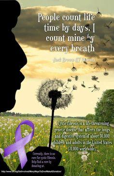 Cystic Fibrosis awareness.