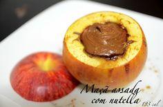 Maçã assada com nutella