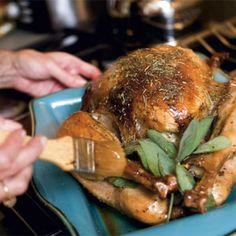Orange- & Herb Butter-Roasted Turkey with Giblet Gravy   Charleston Magazine