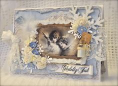 Christmas card. Stamps from Stempelglede