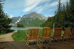 Sit back and enjoy the view of Alaska at the Kenai Fjords Glacier Lodge.