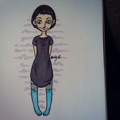 #characterdesign #art #Fashion #drawing #cute #doll #copic #highsocks #blueeyes #ft5kcd3 #artmyfeed