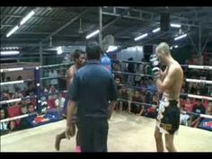 Michael from Denmark - 1st Thai Boxing Fight