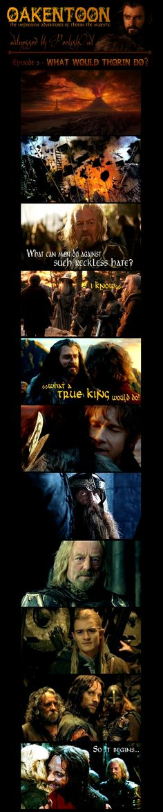 Oakentoon #3: What would Thorin do? by PeckishOwl.deviantart.com on @deviantART