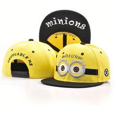 2017 New Brand Men and Women Hip hop Snapbacks baseball caps Cheap Minions  Brim flat chapeau homme Hats Gorras for boys girls 24fb254b39f