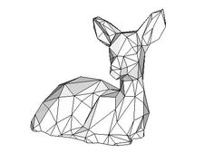Animal Paper Model - Fawn Free Template Download - http://www.papercraftsquare.com/animal-paper-model-fawn-free-template-download.html#AnimalPaperModel, #Deer, #Fawn