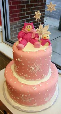 Baby in snow suit cake