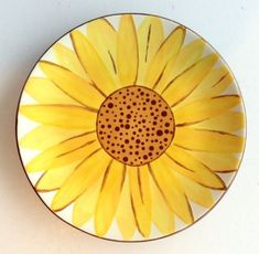 Sunflower Plate | Paint Your Own Pottery | Paint Your Pot | Cary, North Carolina by jamie_1