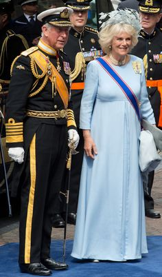 Prince and Princess of Wales at the investiture in Holland 4/30/2013