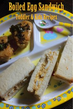 YUMMY TUMMY: Boiled Egg Finger Sandwich Recipe - Kids & Toddler Recipes