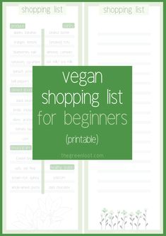 This printable Vegan Shopping List is perfect for Beginners. It contains the mos… This printable vegan grocery list is perfect for beginners. It contains the most important common elements that a vegan pantry should have. Vegetarian Starters, Vegan Starters, Vegan Vegetarian, Vegan Food List, Vegan Foods, Vegan Meals, Keto Foods, Vegan Dishes, Vegan Recipes Beginner