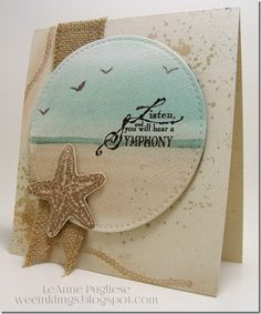 LeAnne Pugliese WeeInklings Paper Players 258 CAS Beach Impression Obsession…
