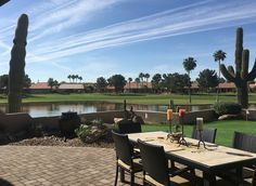 Stunning view of the Lakes golf course from Oakwood in Sun Lakes AZ #stunningviews #teamvideo
