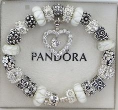 Authentic Pandora Bracelet with European Beads by ExquisiteAellas, $145.00