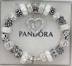 Authentic Pandora Bracelet with European Beads by ExquisiteAellas, $145.00