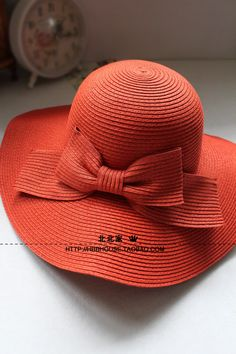 Dome bow straw hat female collapsible Dayan Mao beach hat sun hat