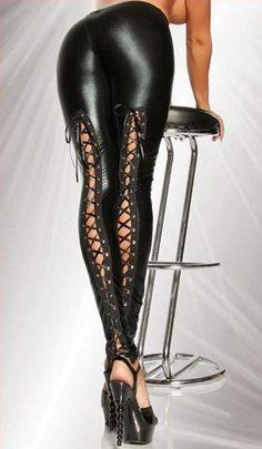 Hot Gothic Punk Retro Lace Up Adjustable Legging Pants Dfg153 Wng Please Read All - Pants & Jeans | RebelsMarket