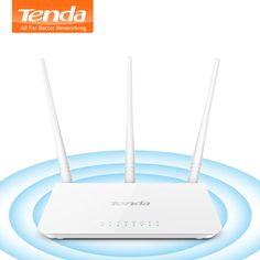 Tenda Wireless WiFi Router Wi-Fi Repeater, Multi Language Ports, Perfect for Small & Medium House Wi Fi, Wireless Wifi Router, Home Network, Cool Technology, Digital, Medium, Houses, House