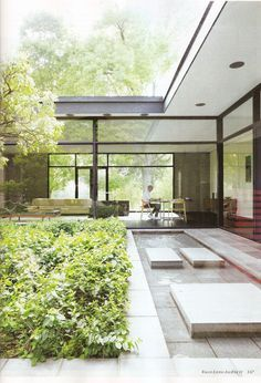 FOREST HOUSE by Bassam-Fellows, New Canaan, CT originally designed in 1955 by architect Willis Mills.