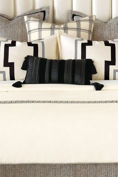 Evoke the art deco glamour of the Roaring '20s with the Abernathy Bedding Collection.