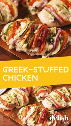 Greek Chicken Breast, Baked Chicken Breast, Stuffed Chicken Breasts, Chicken Breast Recipes Healthy, Healthy Recipes, Simple Baked Chicken Recipes, Stuffed Chicken Recipes, Baked Chicken And Veggies, Simple Recipes