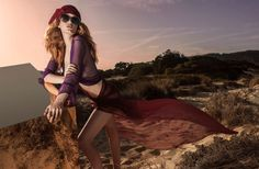 Hollie May Saker poses in Linda Farrow spring summer 2016 campaign