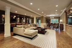 I don't think I'll ever have a home soo big that it has a basement this size but it's pretty sick.