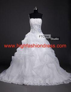 #Wedding dress Strapless A-line taffeta #Bridesmaid #Dresses#highfashiondress.com $126.99