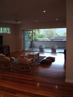Spotted gum wooden flooring Spotted Gum Flooring, Small Houses, Wooden Flooring, Conference Room, Table, Furniture, Ideas, Home Decor, Mezzanine