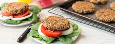 Try a delicious, healthy alternative to beef burgers with our Black Bean Burgers recipes. Prepare patties the day before and store in your fridge for a quick meal. Plant Based Whole Foods, Plant Based Eating, Plant Based Diet, Plant Based Recipes, Vegan Vegetarian, Vegetarian Recipes, Healthy Recipes, Vegan Burgers, Beef Burgers
