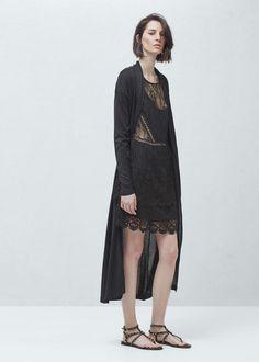 Vestido renda - Vestidos de Mulher | MANGO