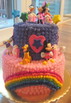 birthday cakes for one year old girls | This cake was for a little girl turning 3 who LOVES Mickey Mouse ...