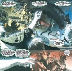 From Kingdom Come, Alex Ross water color of Detective Comics 27, Action Comics 1, and Wonder Woman 1