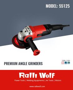 """Ralliwolf"" has also launched premium range of #Angle #Grinders in 4"",5""&7"" wheel size to fulfill the specific choice of heavy structural fabricators for angle grinders with better durability after rigorous R & D and undergoing stringent quality control tests and developed with design features like"