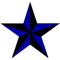 Blue nautical star