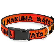 Buckle-Down Lion King Hakuna Matata Sunset Oranges/Black Disney Breakaway Plastic Clip Collar *** For more information, visit image link. (This is an affiliate link and I receive a commission for the sales) #MyPet