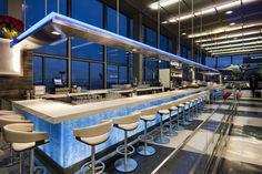 Wicker Park Sushi Bar in Chicago O'Hare Airport Restaurant Design, Restaurant Bar, Illinois, Contemporary Home Furniture, Bar Design Awards, Interior Design Awards, Design Firms, Stores, Wicker