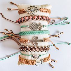 Hippie Jewelry, Cute Jewelry, Metal Jewelry, Jewelry Accessories, Beach Bracelets, Summer Bracelets, Cute Bracelets, Cute Friendship Bracelets, Accesorios Casual