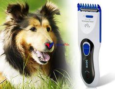 Tondeuse à cheveux professionnel coupe chien (blanc + bleu)